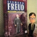 Till vänster: Freud. Till höger: Dwight Schrute (The Office)